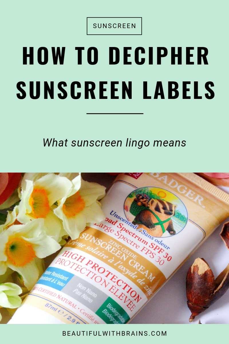 how to decipher sunscreen labels and lingo
