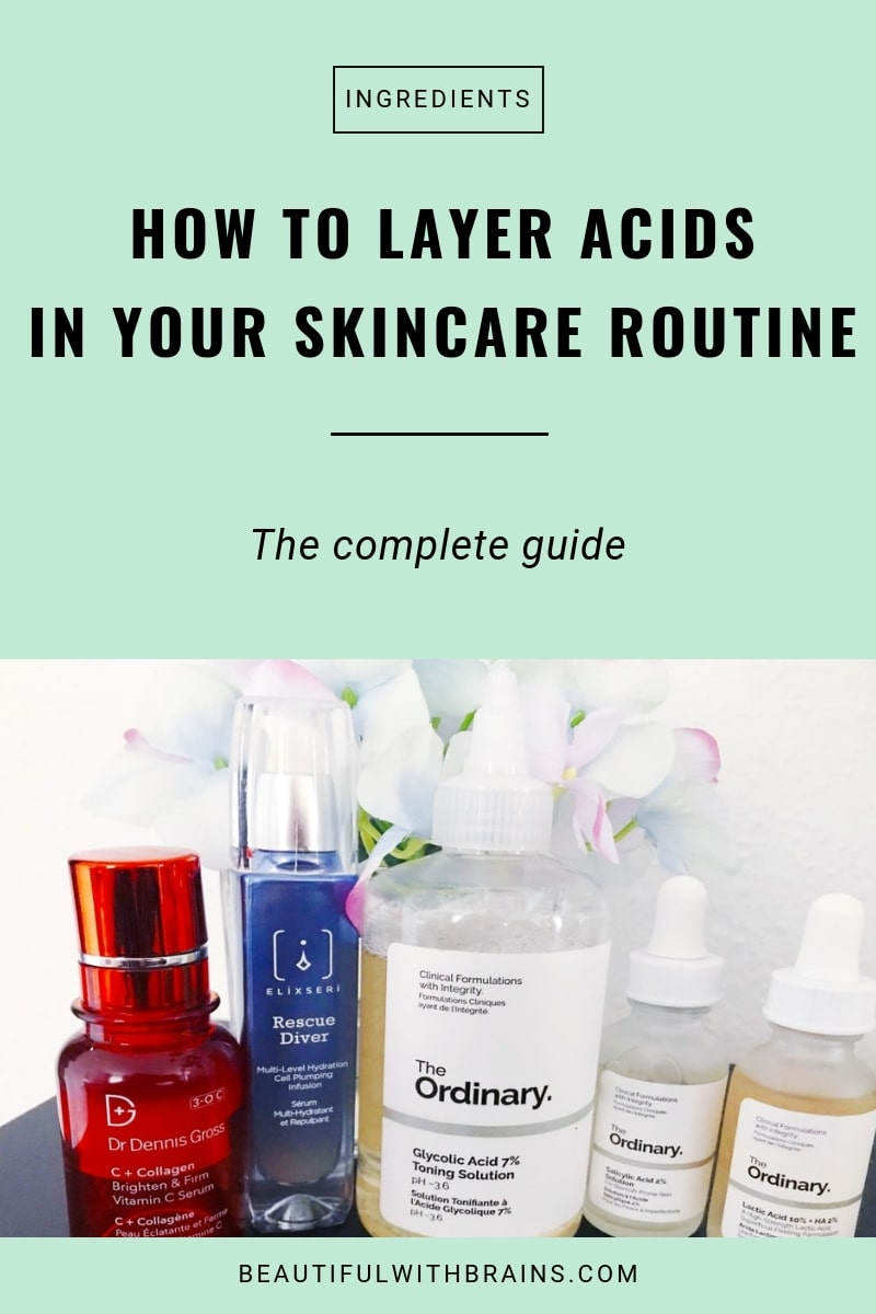 how to layer acids in your skincare routine