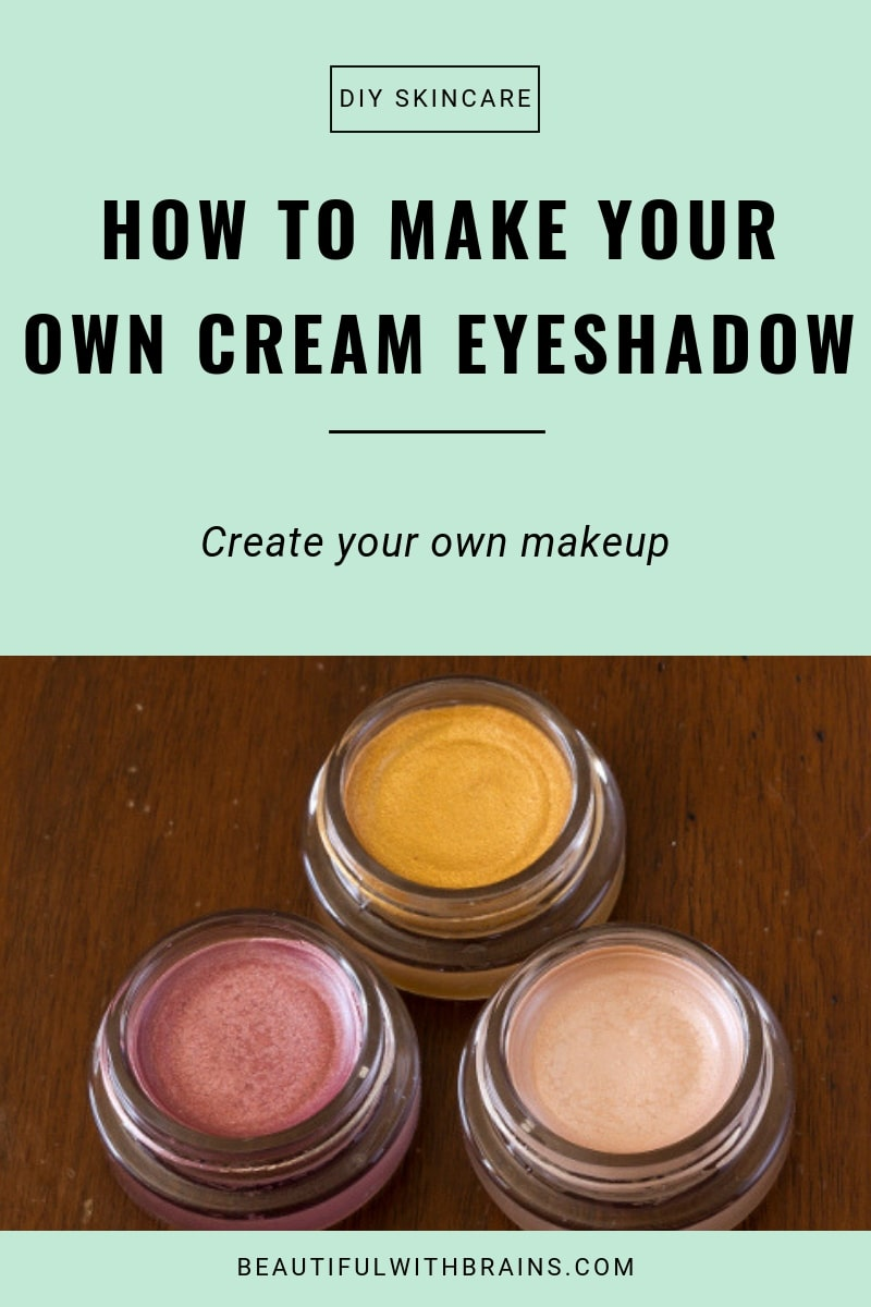 how to make your own cream eyeshadow tutorial