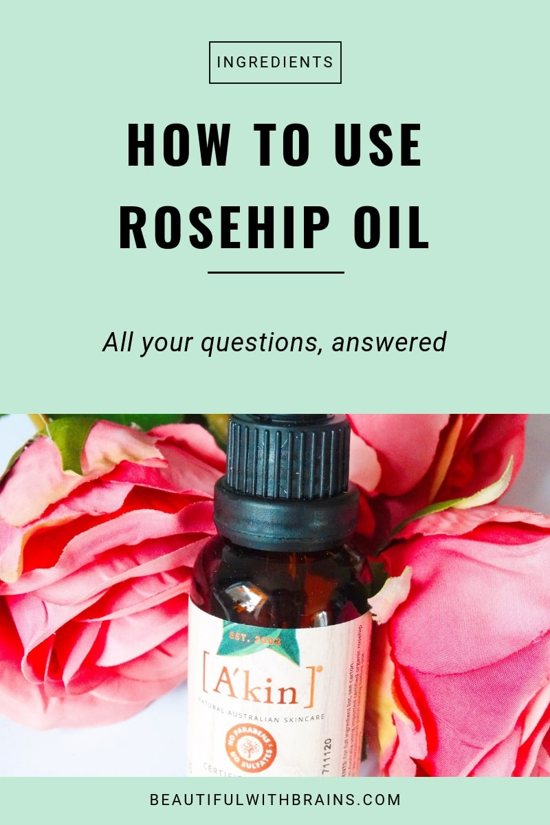 how to use rosehip oil in skincare