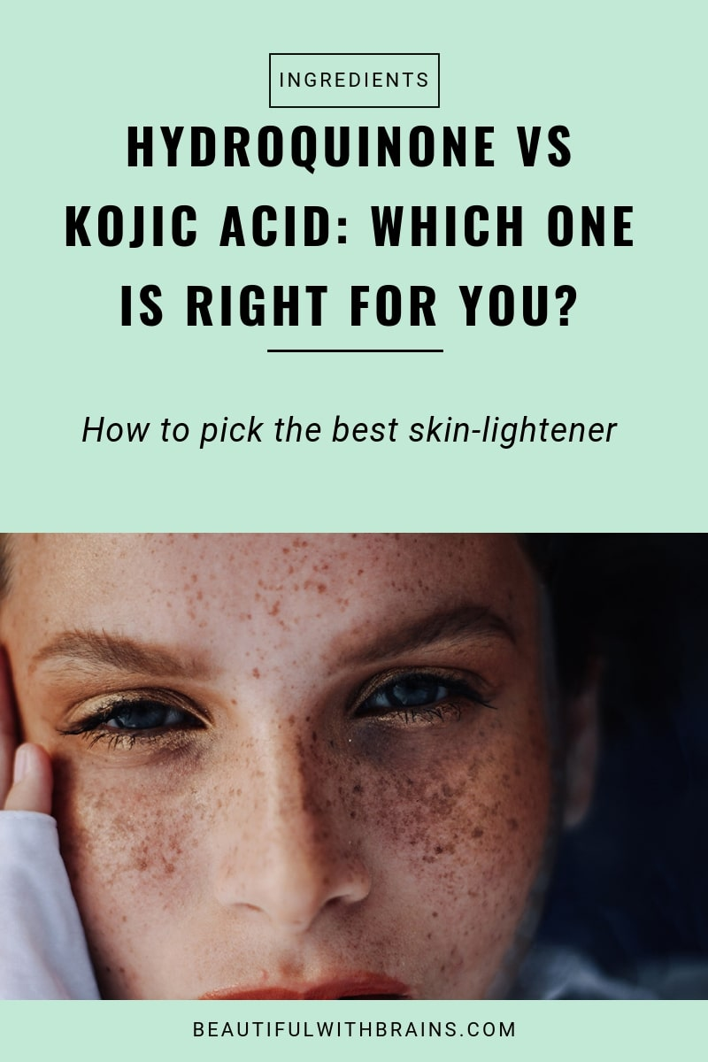 hydroquinone vs kojic acid - which one is better at treating dark spots