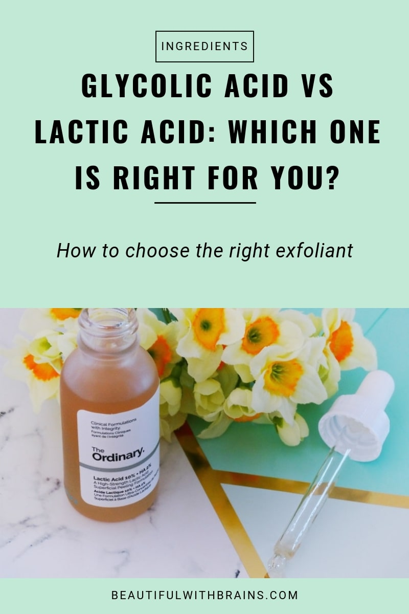 lactic acid vs glycolic acid - which one is right for you?