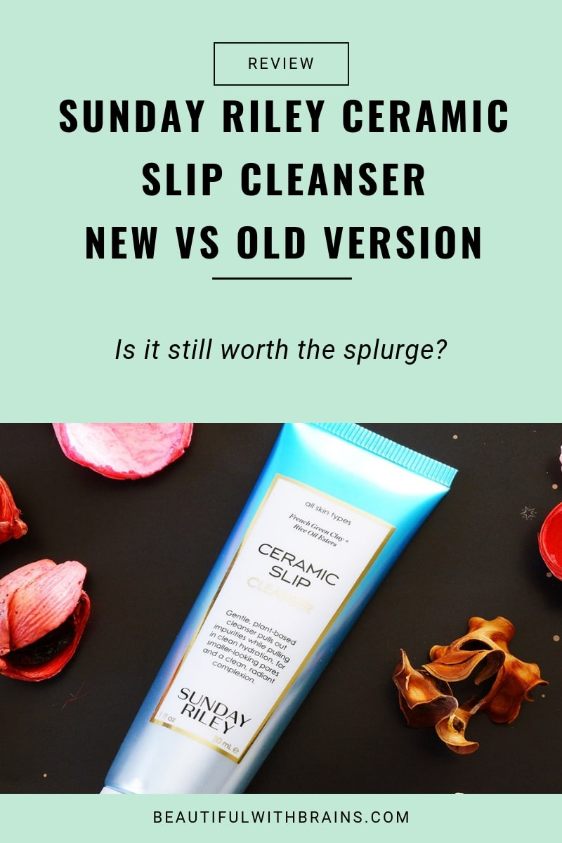 sunday riley ceramic slip cleanser review