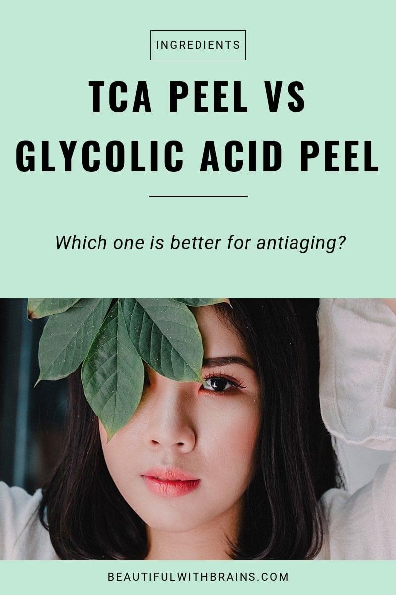 tca peel vs glycolic acid peel for antiaging