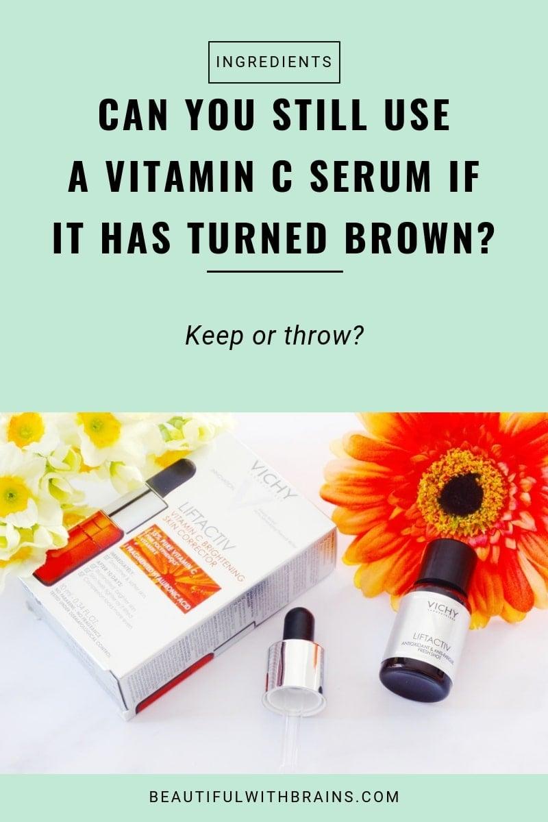vitamin c serum has truned brown