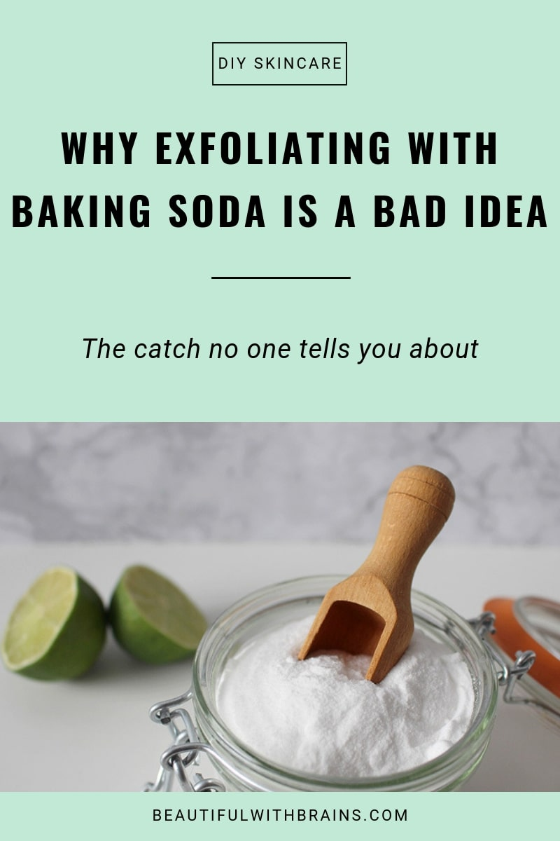 why exfoliating with baking soda is a bad idea