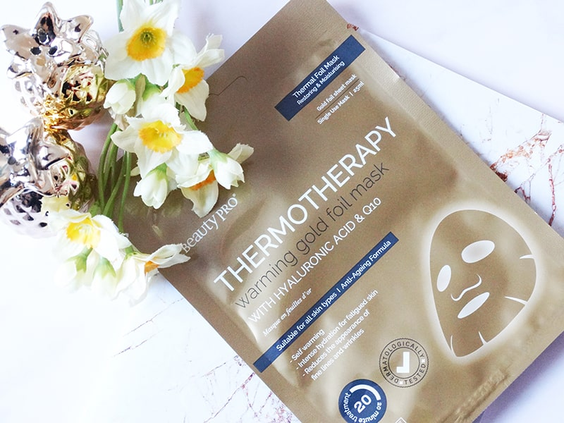 beauty pro thermotherapy warming gold foil mask review
