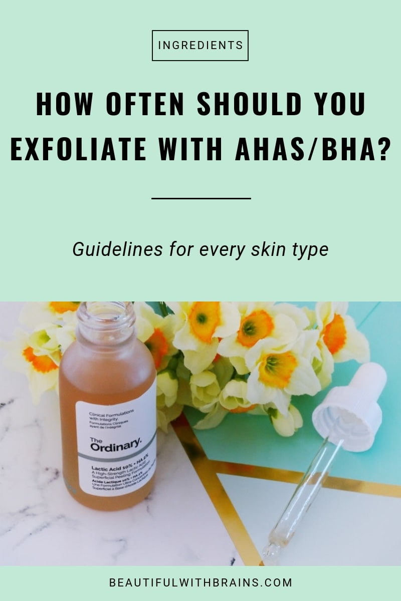 how often should you use ahas and bha?