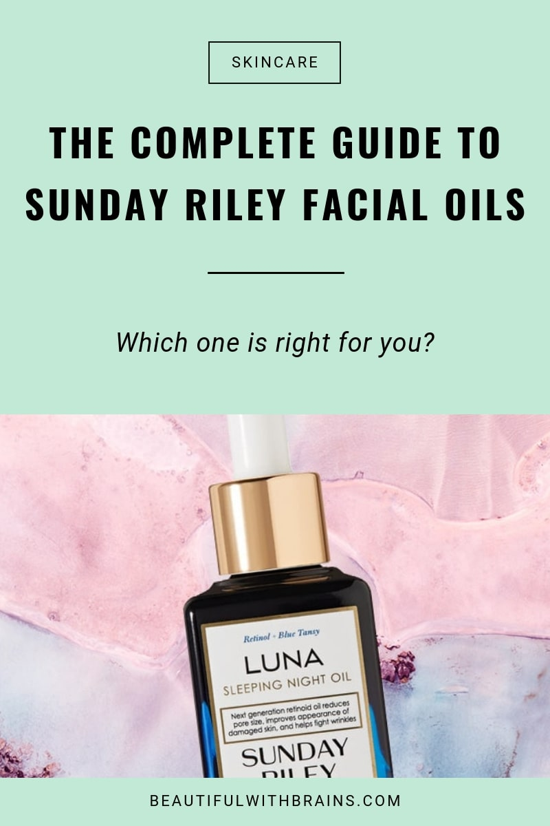 sunday riley facial oils comparison - which one is right for you?