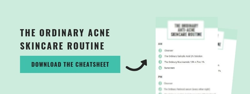 get the ordinary acne routine cheatsheet