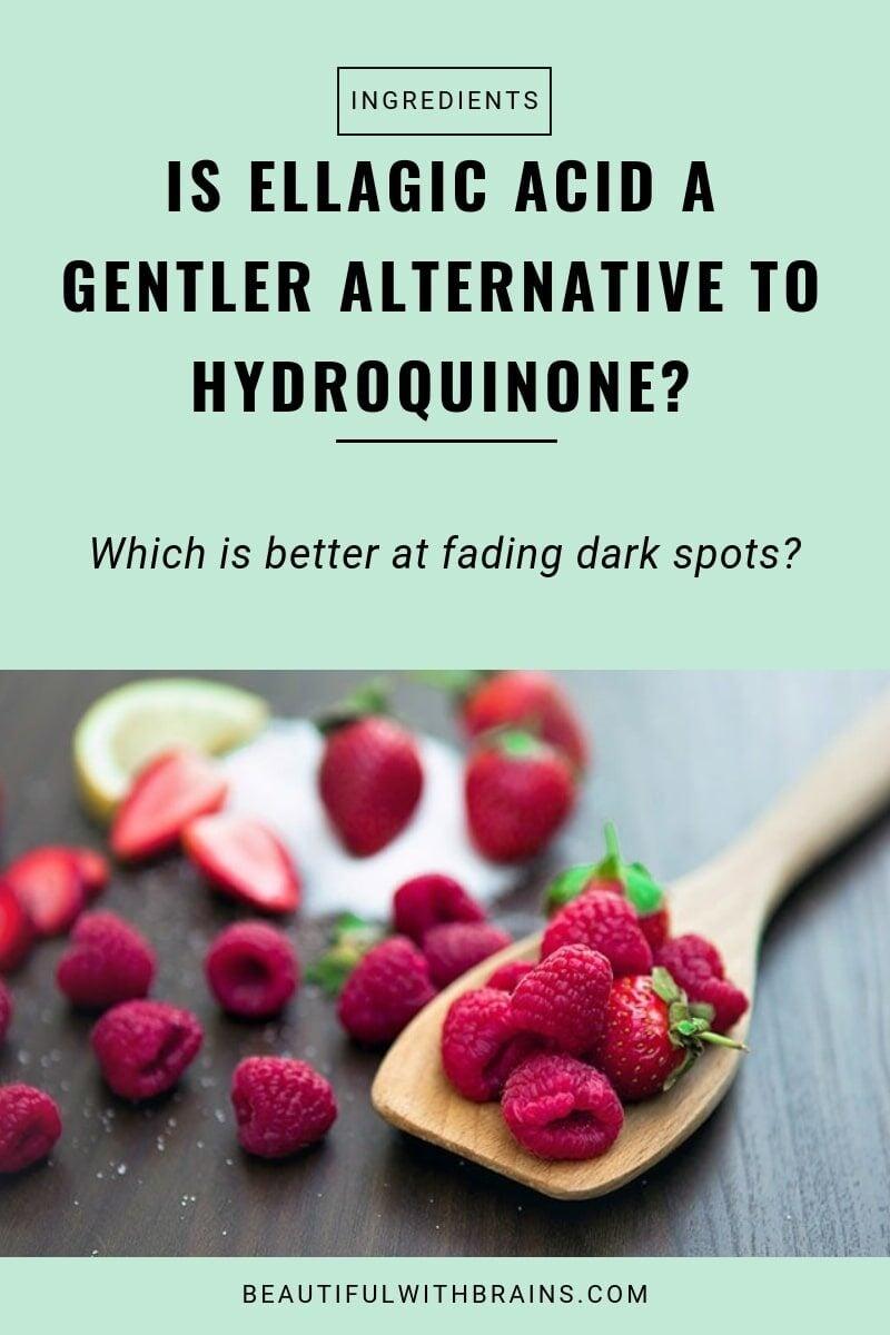 is ellagic acid an effective alternative to hydroquinone