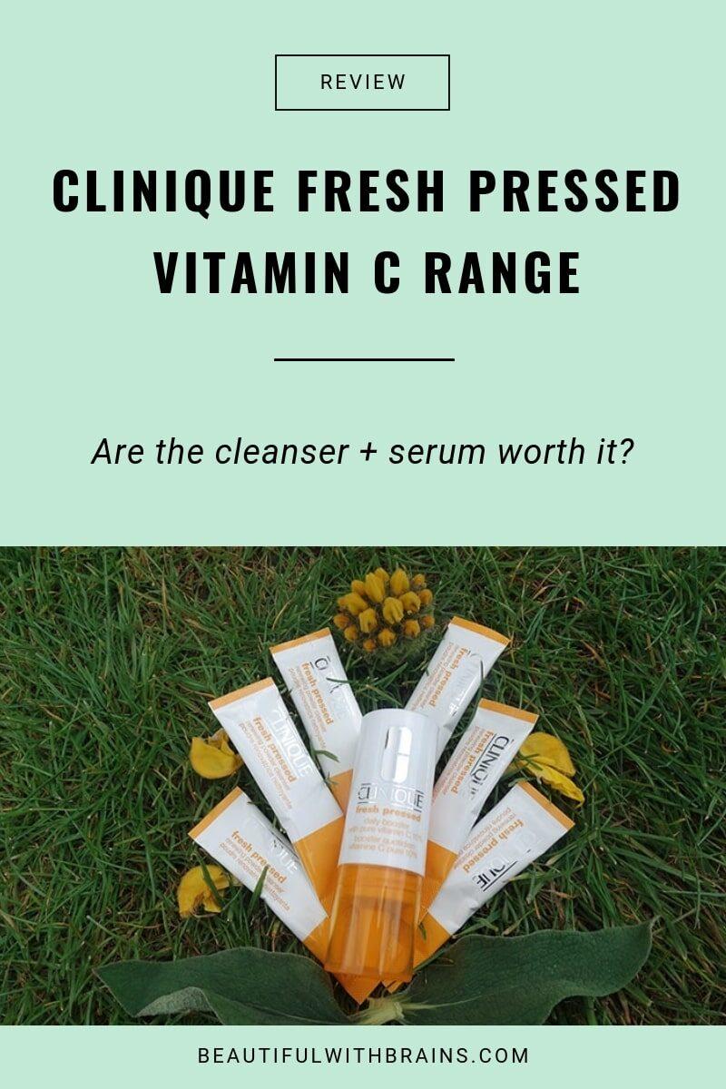 clinique fresh pressed vitamin c range review