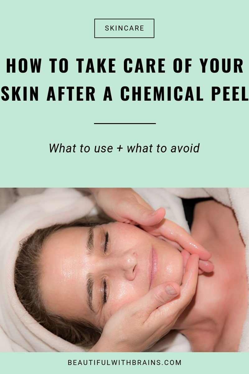how to take care of your skin after a chemical peel