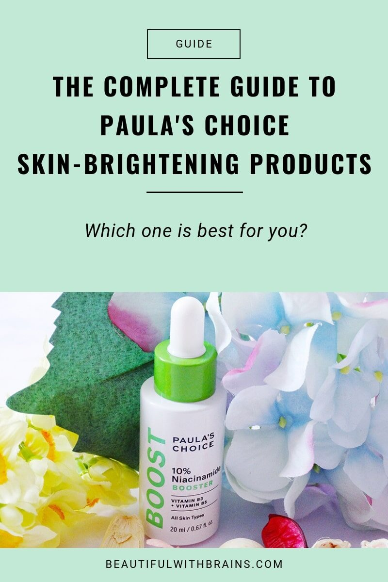 guide to paula's choice skin-brightening products