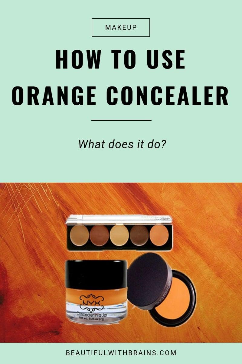 how to use orange concealer