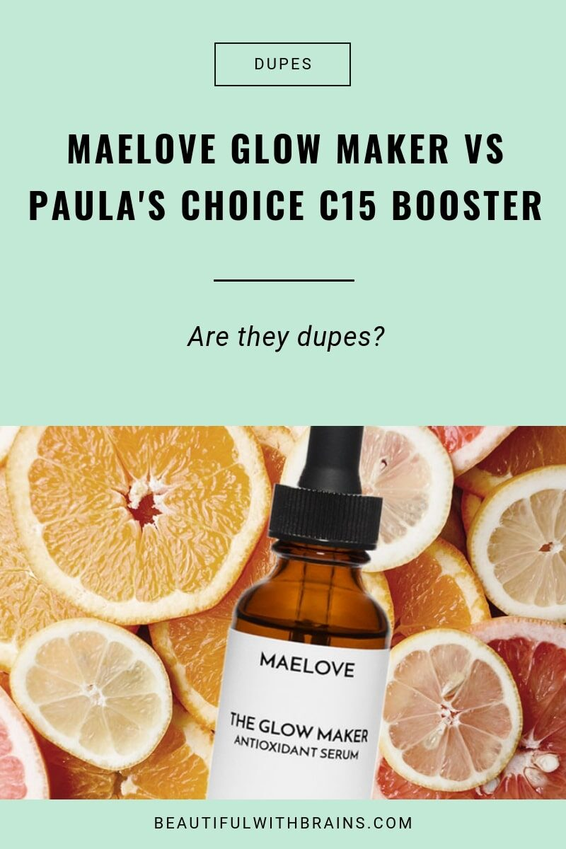 is maelove glow maker a dupe for Paula's choice c15 booster