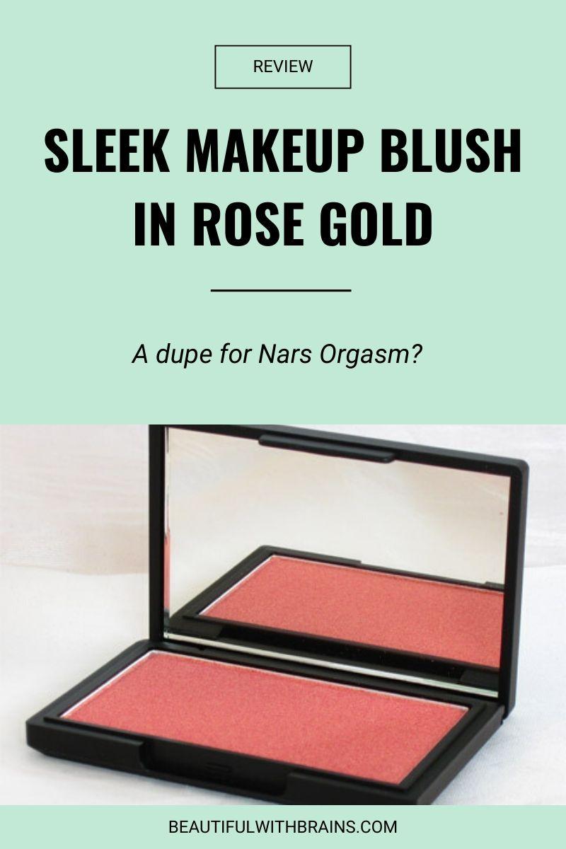 review sleek makeup in rose gold
