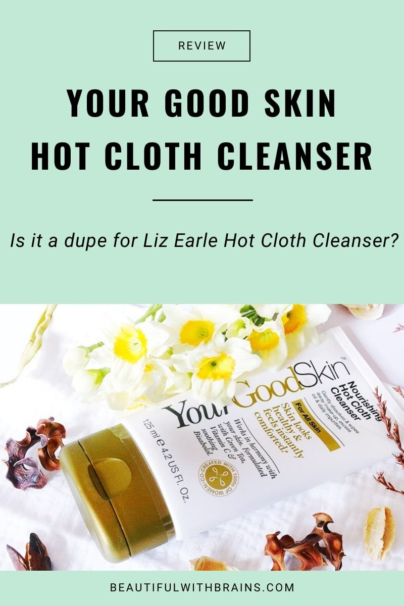 your good skin nourishing hot cloth cleanser review