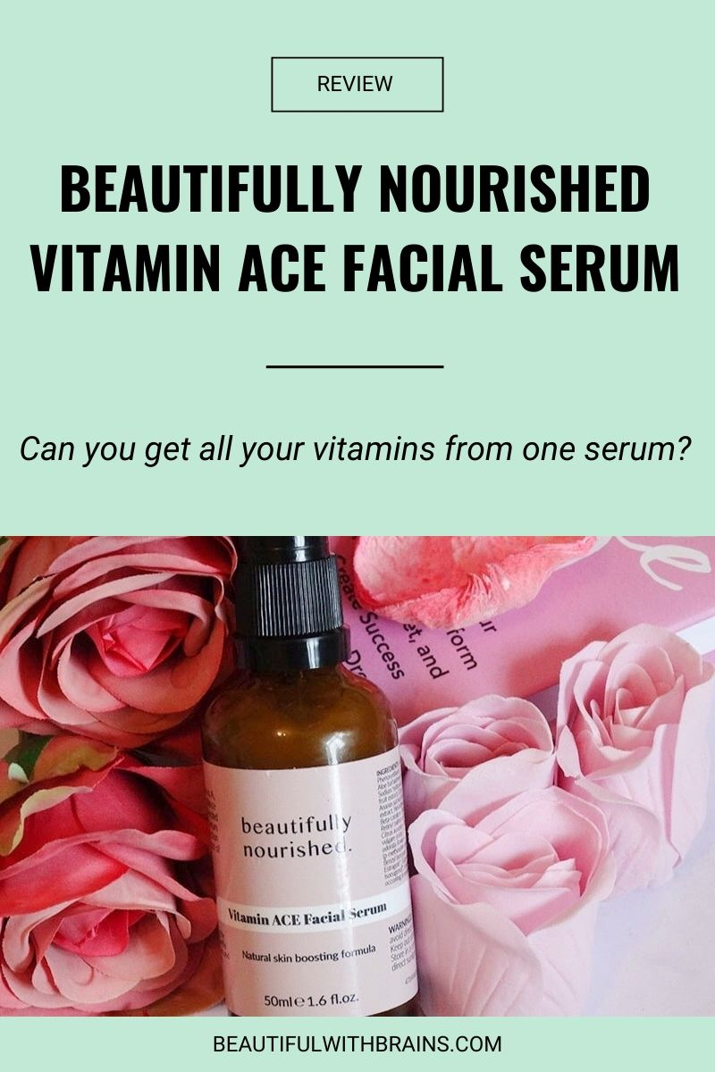 beautifully nourished vitamin ace facial serum review