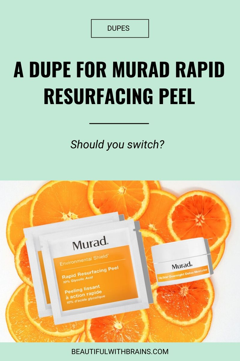 murad rapid resurfacing peel dupe