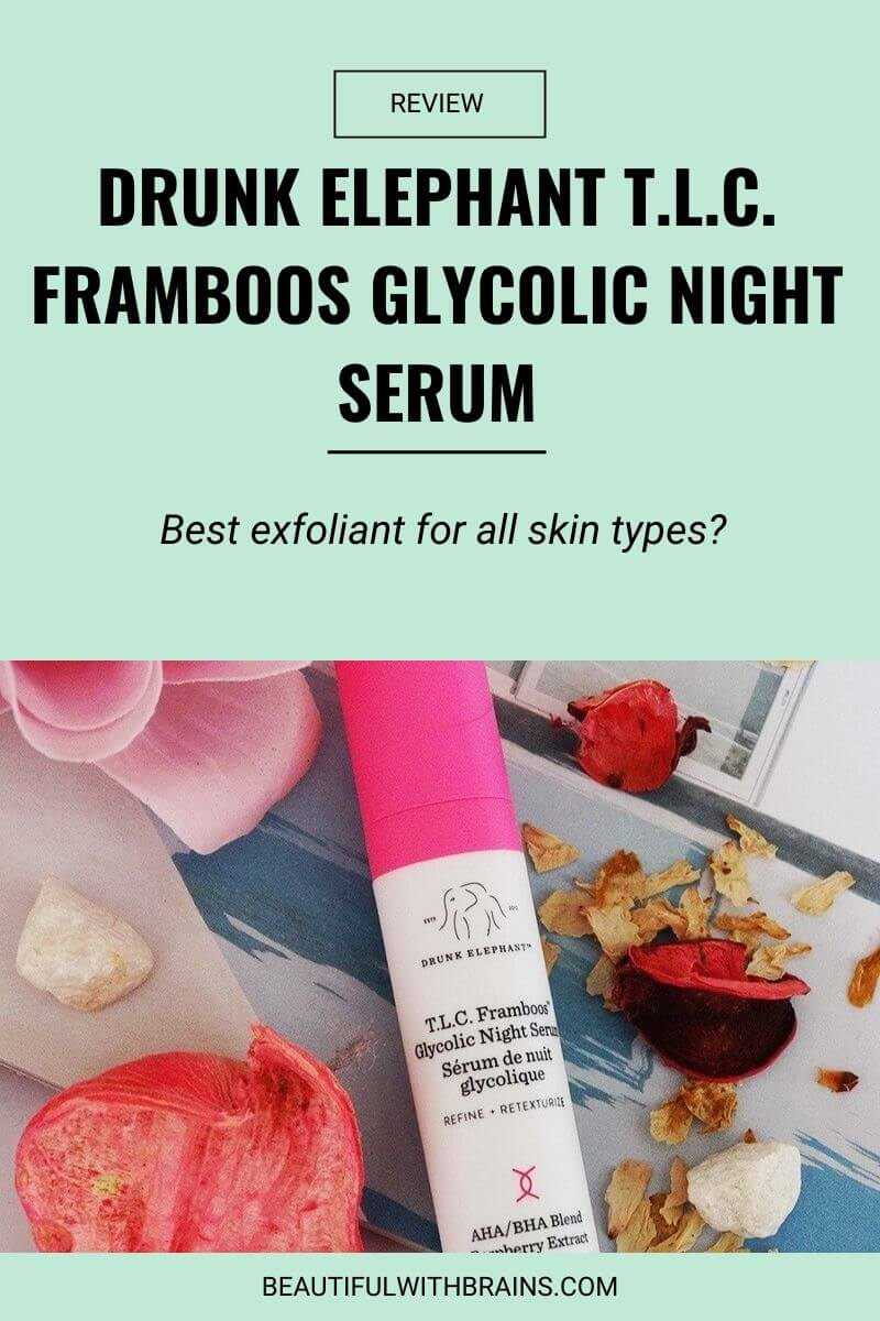 drunk elephant tlc framboos glycolic night serum review