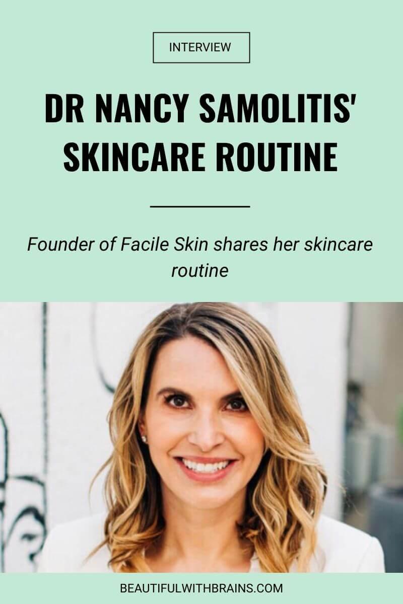 nancy samolitis skincare routine