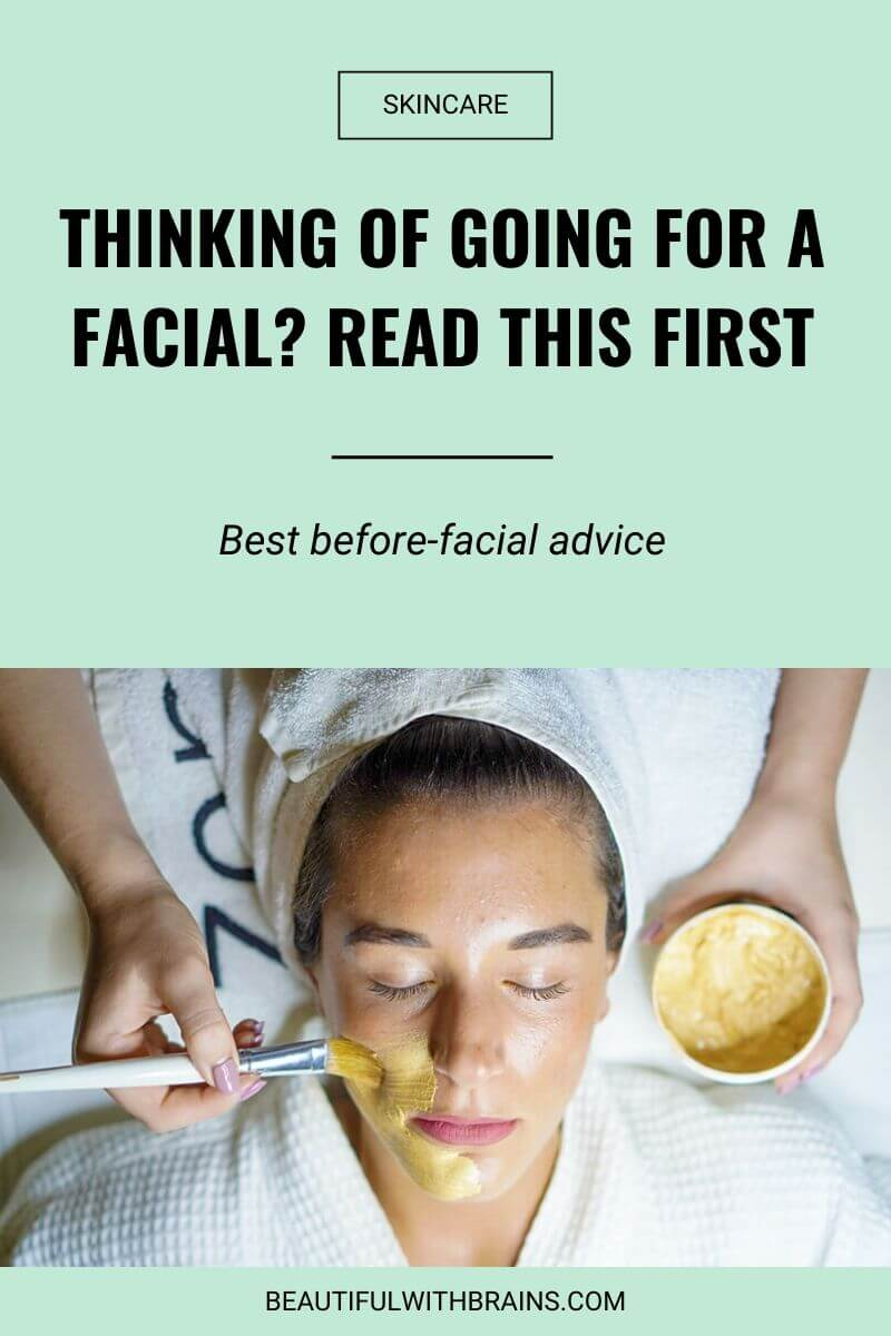 things to know before booking a facial