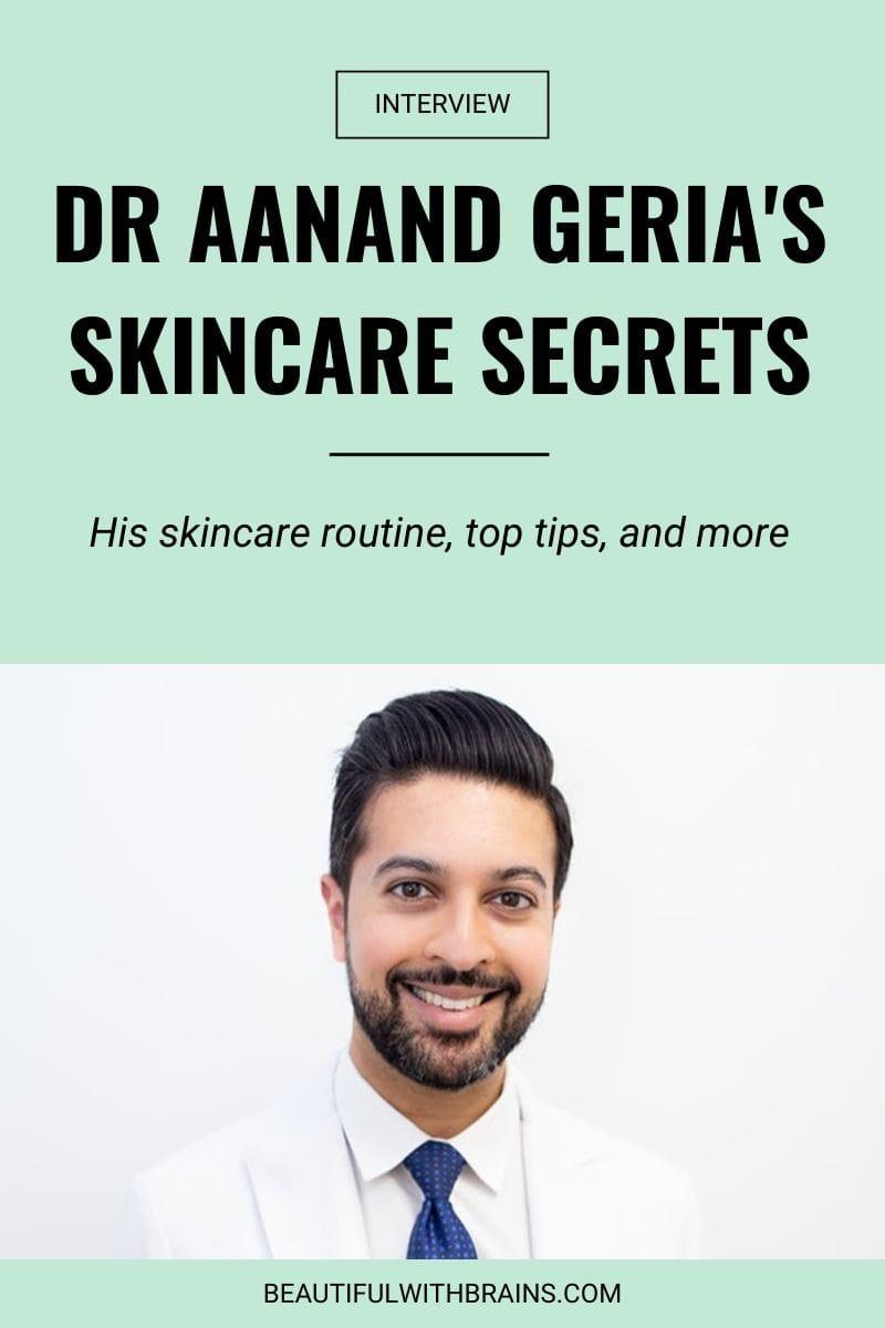 dr aananda geria skincare routine