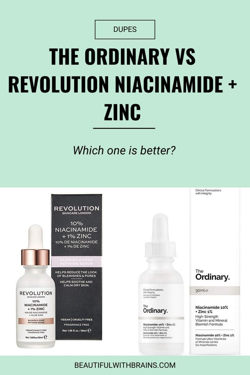 dupes the ordinary vs revolution niacinamide + zinc