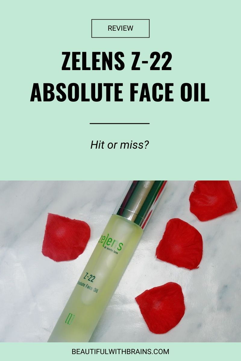 zelens z-22 absolute facial oil review