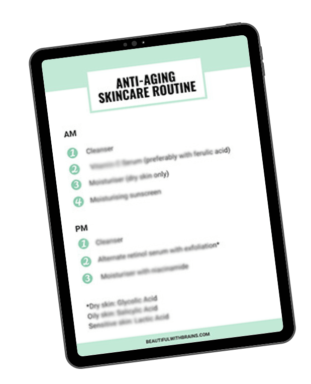 antiaging routine footer