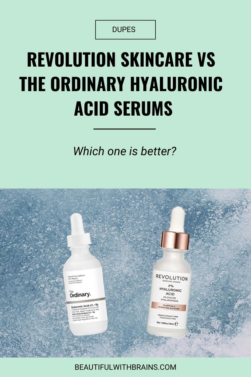 revolution vs the ordinary hyaluronic acid serums dupe
