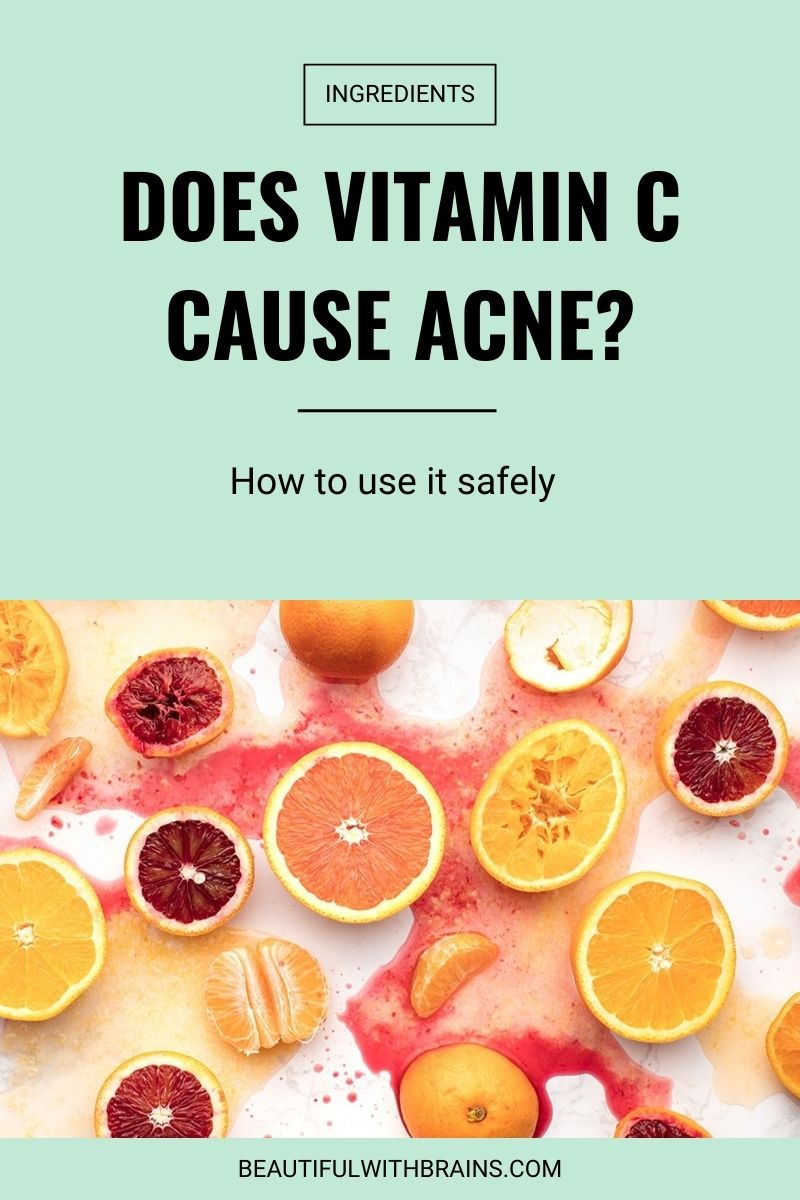 does Vitamin C cause acne