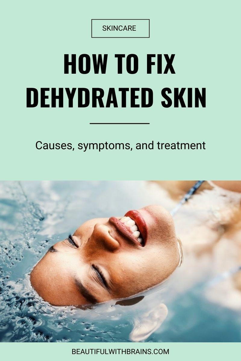 چگونه پوست کم آب را رفع کنیم
