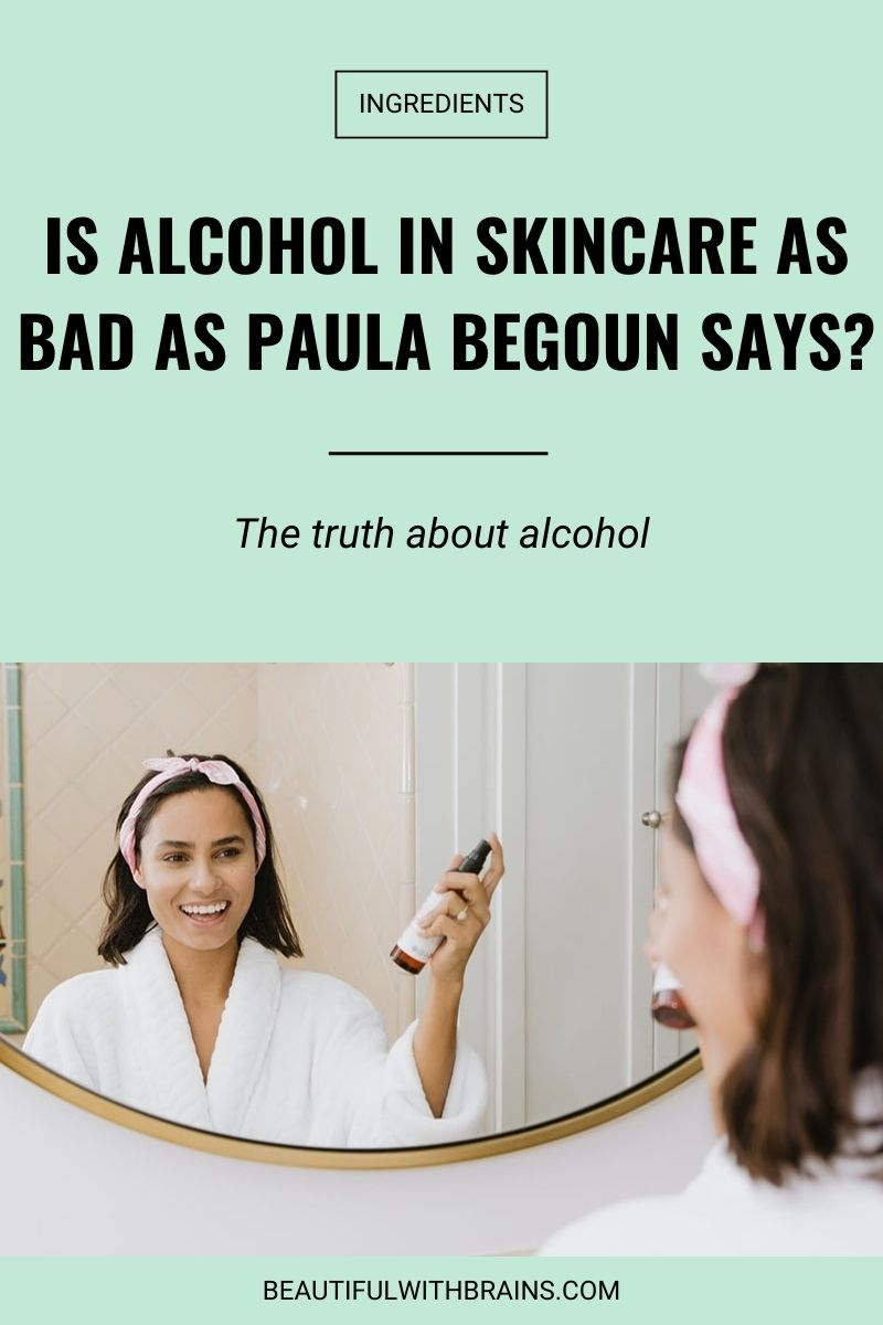 alcohol in skincare bad