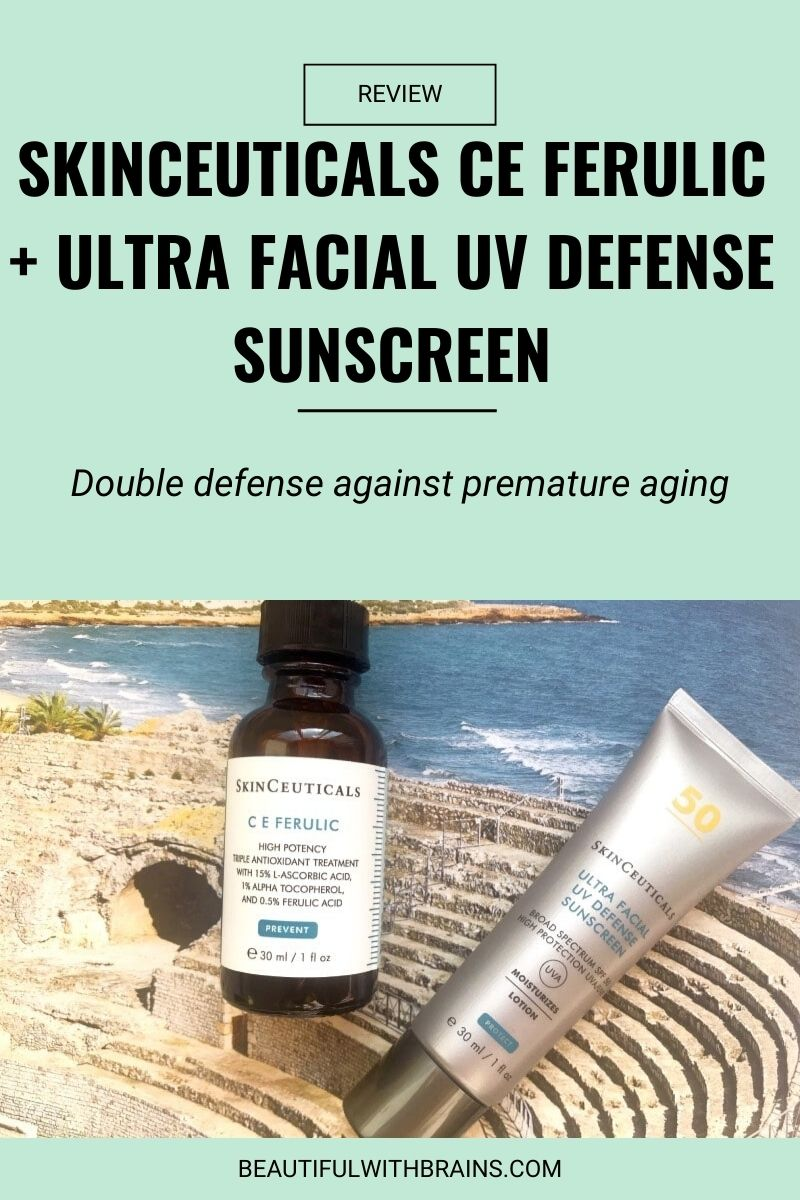 Skinceuticals double defense serum + sunscreen