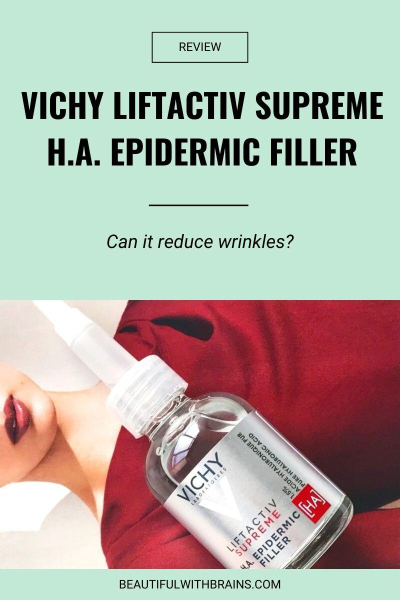 vichy liftactiv supreme ha epidermic filler review